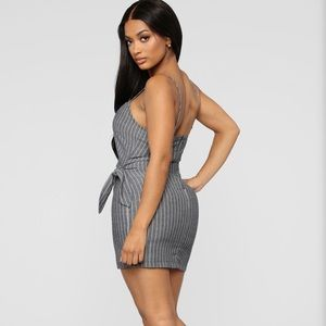Fashion Nova Tied To Her Heart Stripe Mini Dress